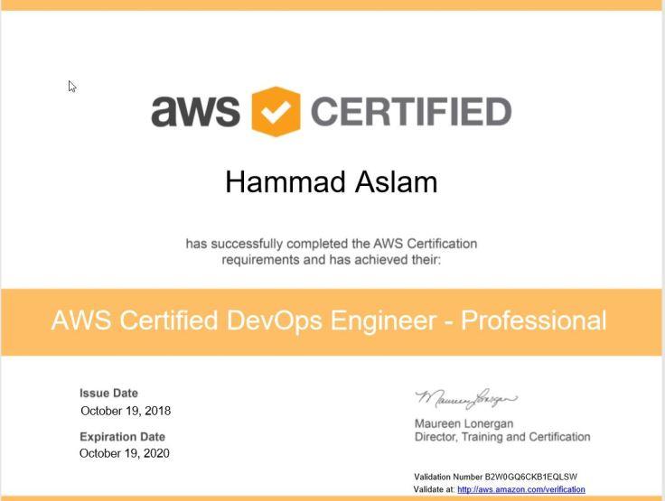 AWS Certified DevOps Engineer - Professional